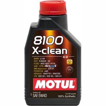 Моторное масло Motul 8100 X-clean 5W-40, 1 л - Pitstopshop