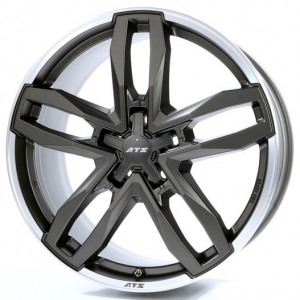 ATS Temperament 8.5x18/5x130 ET 55 Dia 71.6 Blizzard Grey Lip Polished - Pitstopshop