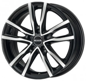 Mak Milano 7x17/5x114.3 ET 40 Dia 76 Black and Red - Pitstopshop
