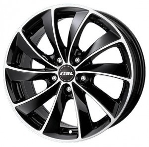 Rial Lugano 7.5x16/5x108 ET 48 Dia 70.1 Diamant black front polished - Pitstopshop